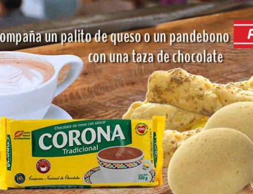 Chocolate Corona y pandebono