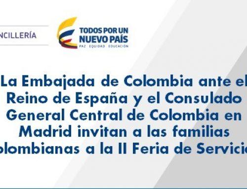 Audio Invitación II Feria de Servicios 2017 para Colombianos en Madrid